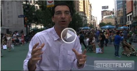 Streetsblog's Mark Gorton gives a video tour of the new Broadway.