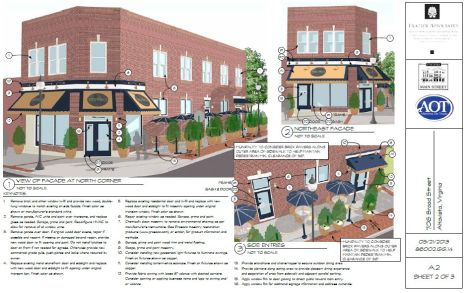 Example of facade design assistance provided by Frazier Associates.