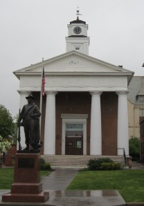 The Greek Revival former Frederick County Courthouse in Winchester.  Photo credit: Joel Bradshaw via Wikimedia Commons.