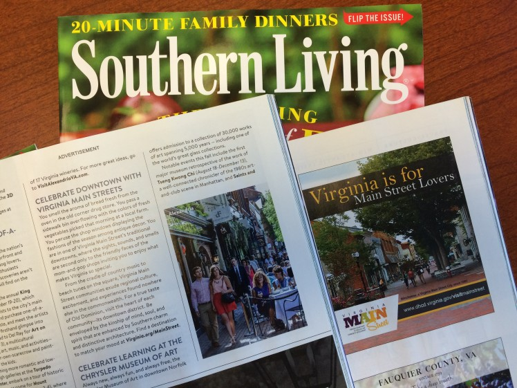 Celebrate Downtown with Virginia Main Streets - September 2015 Issue of Southern Living