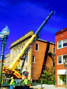 Historic Masonic Theatre under construction with IRF funds in Clifton Forge, VA