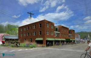 Rendering of the renovated Western Front Hotel in St. Paul, VA